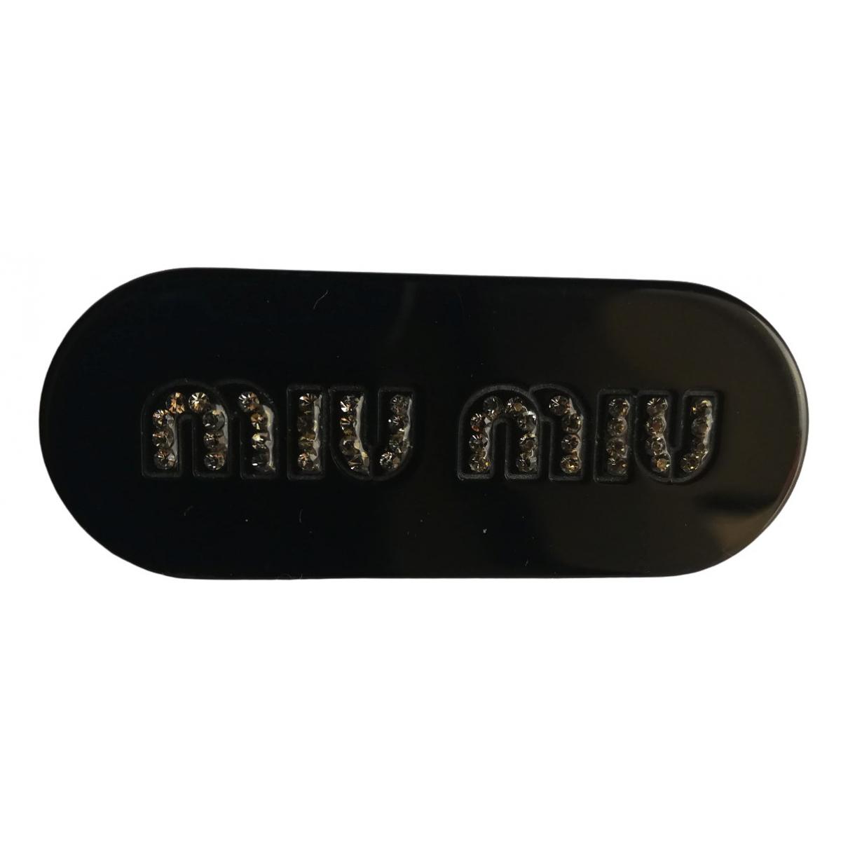 Miu Miu \N Brosche in  Schwarz Kunststoff