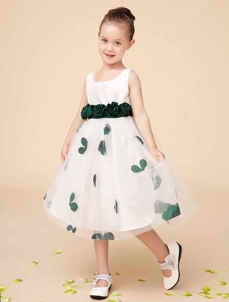 Milanoo Vestido formal para niñas de poliester con flores de moda
