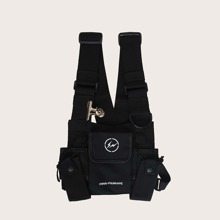 Men Multi Pocket Chest Bag