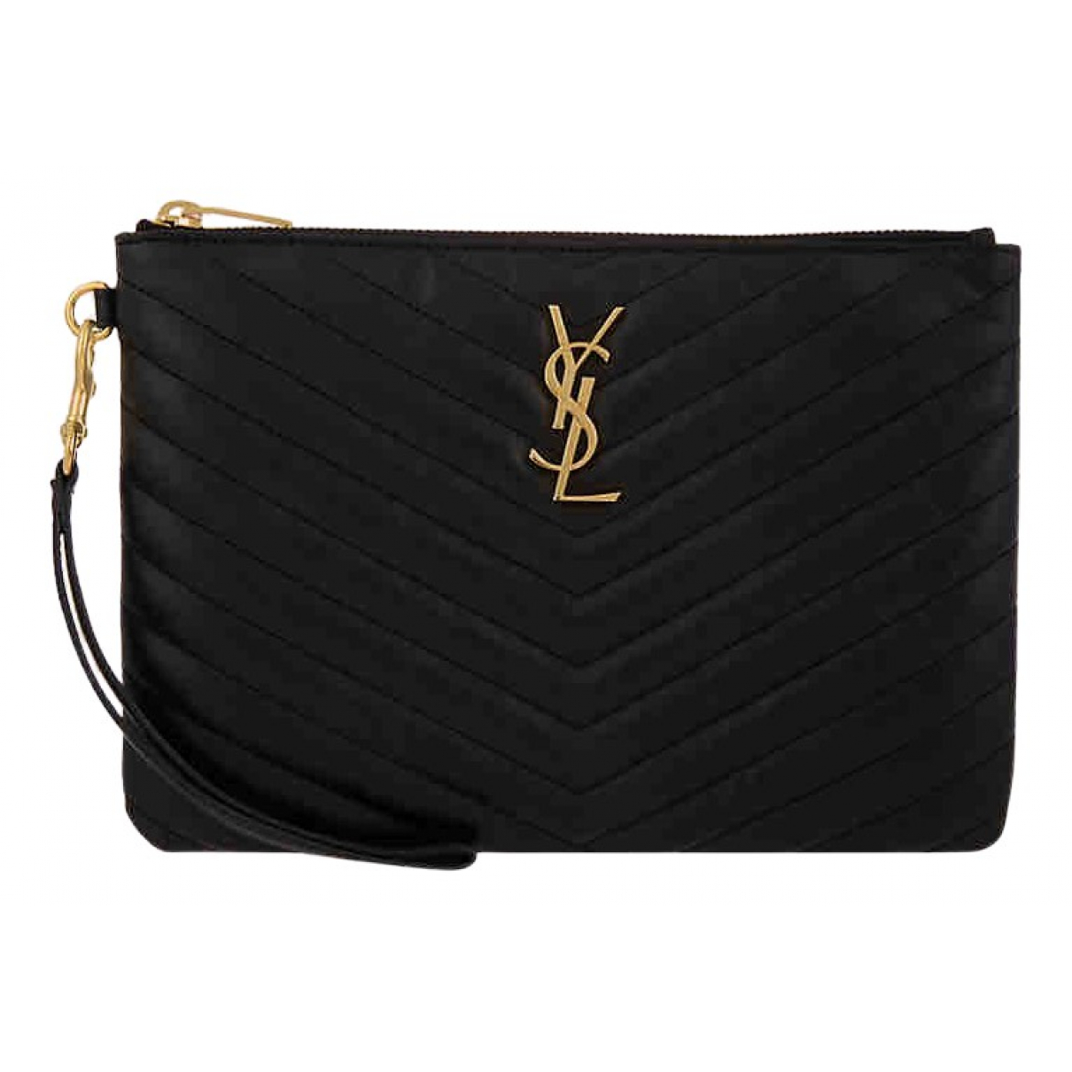 Saint Laurent New Jolie Black Leather Clutch bag for Women \N