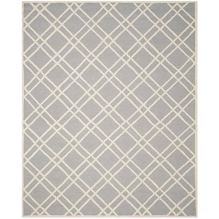 Safavieh Phelim Geometric Hand Tufted Wool Rug, One Size , Silver