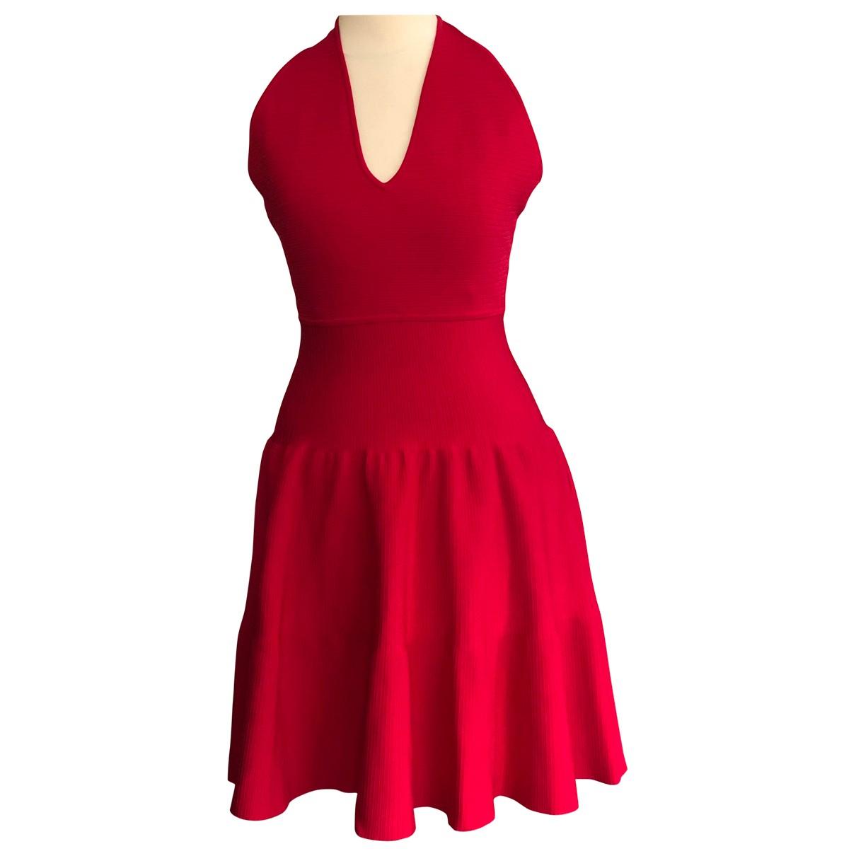 Issa - Robe   pour femme en coton - elasthane - rouge