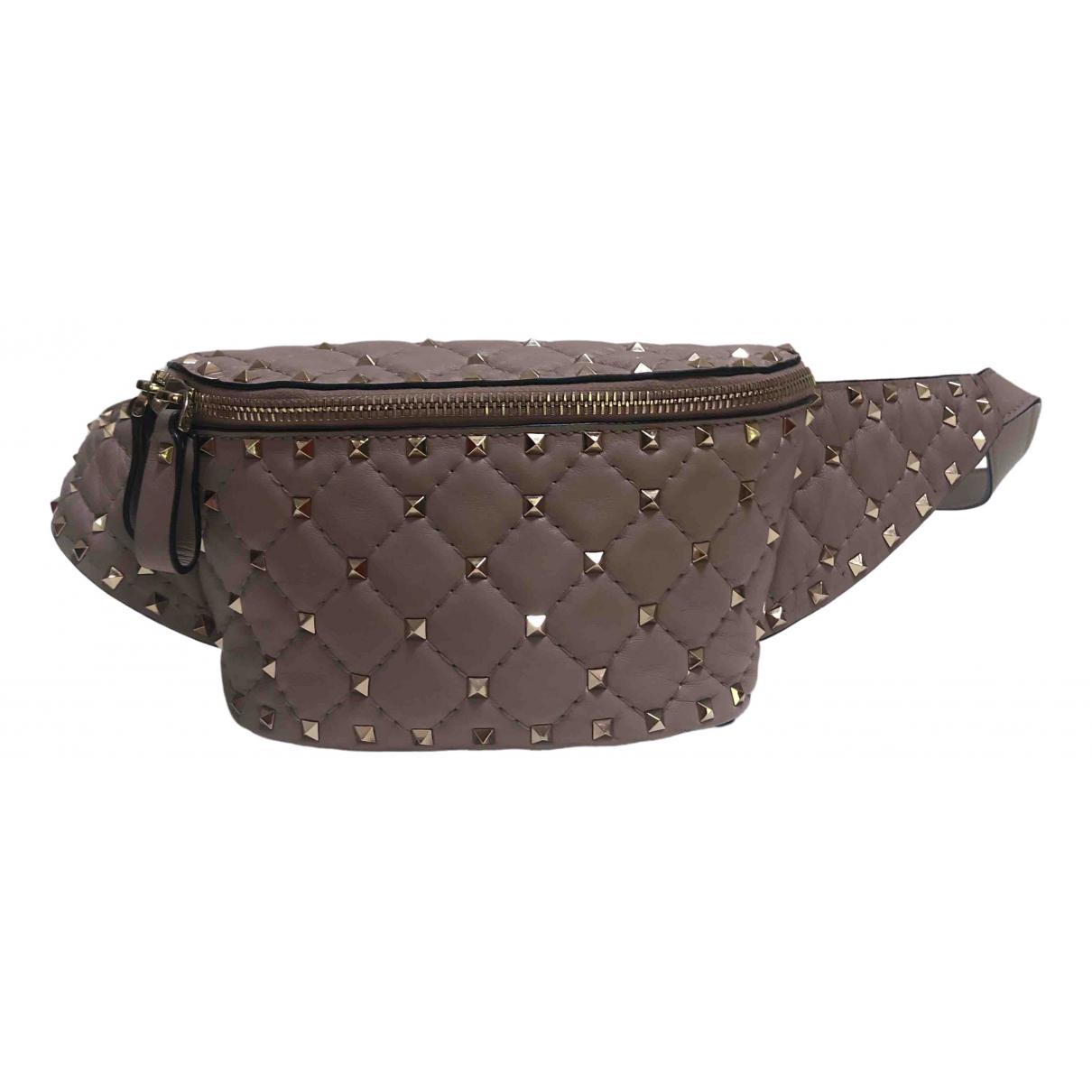 Valentino Garavani \N Handtasche in  Beige Leder