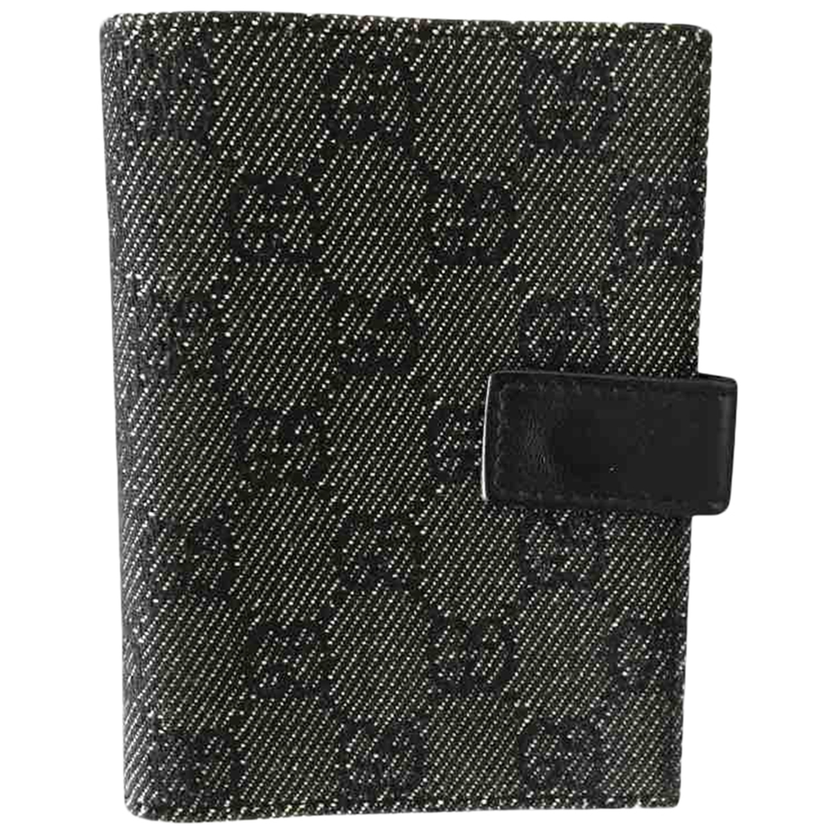 Gucci \N Anthracite Cloth Purses, wallet & cases for Women \N