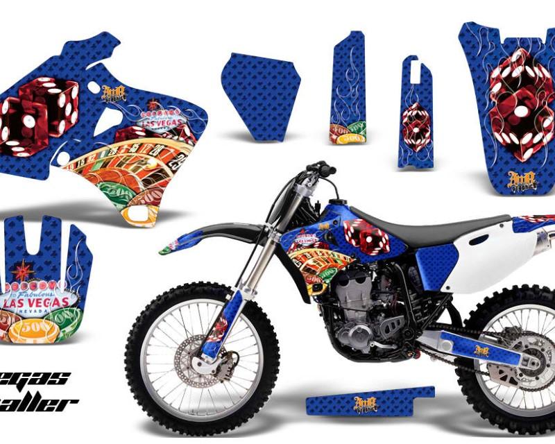 AMR Racing Dirt Bike Graphics Kit Decal Wrap For Yamaha YZ 250F/400F/426F 1998-2002áVEGAS BLUE
