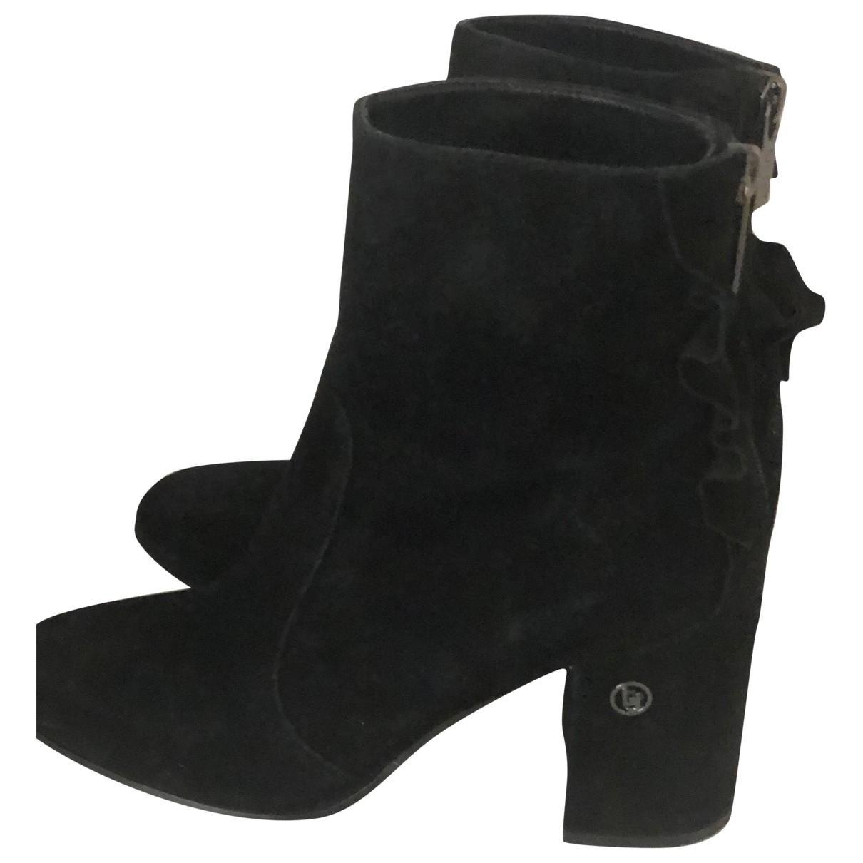 Liu.jo - Boots   pour femme en suede - noir