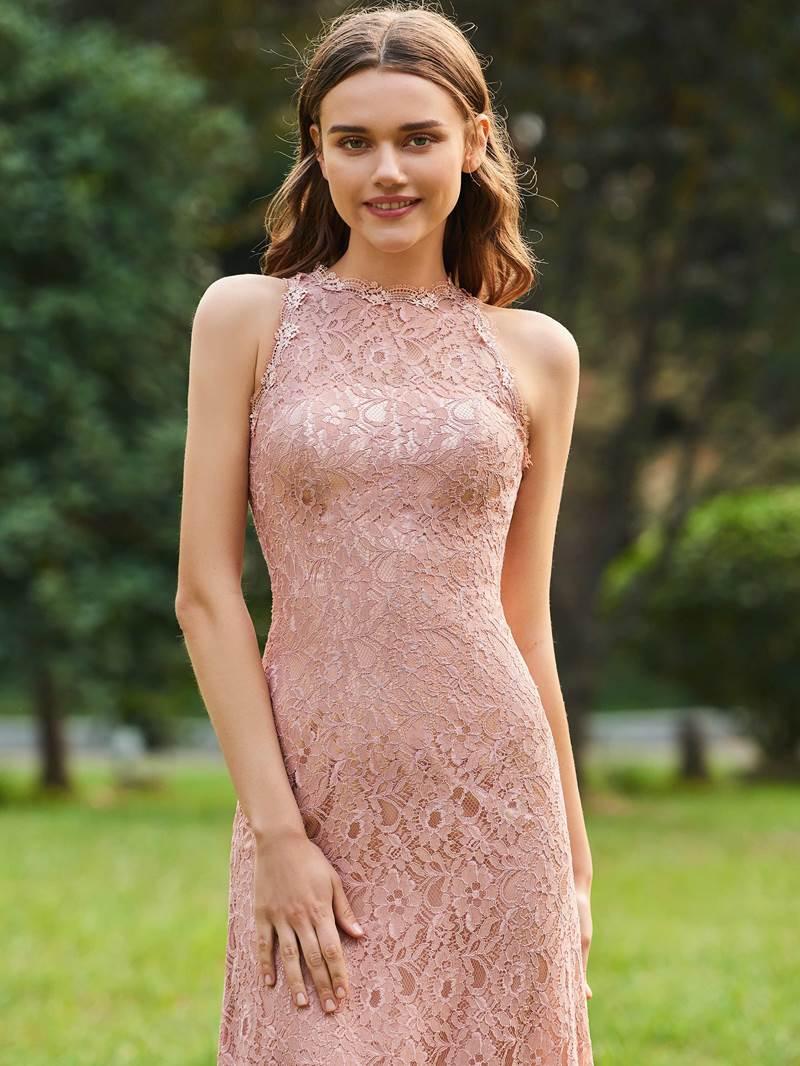 Ericdress Sheath Lace Long Bridesmaid Dress