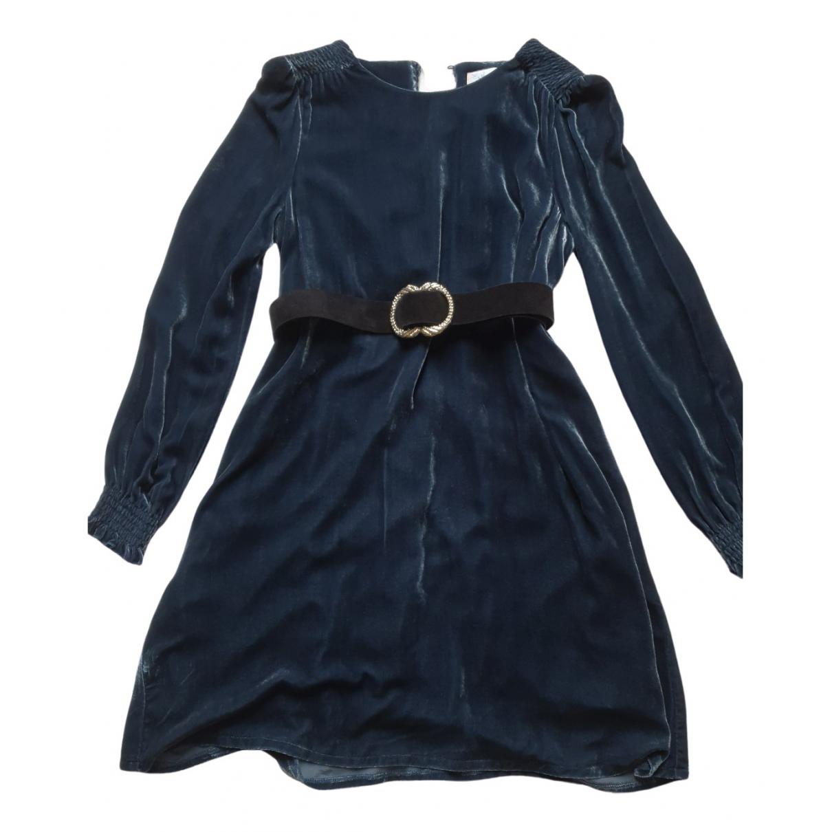 Sezane - Robe Fall Winter 2019 pour femme en velours - bleu