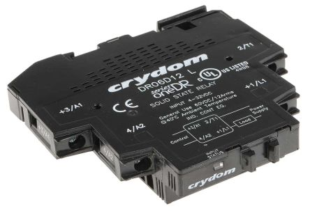 Sensata / Crydom 12 A Solid State Relay, Zero Cross, DIN Rail, 60 V dc Maximum Load