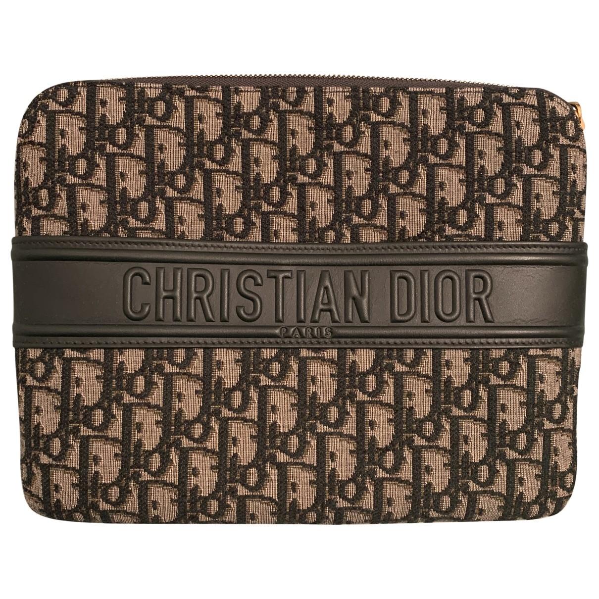 Dior \N Grey Cloth Clutch bag for Women \N