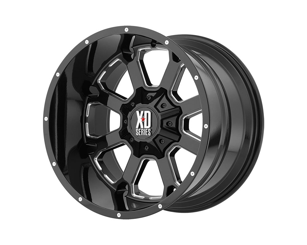 XD Series XD82529035300 XD825 Buck 25 Wheel 20x9 5x5x127/5x139.7 +0mm Gloss Black Milled