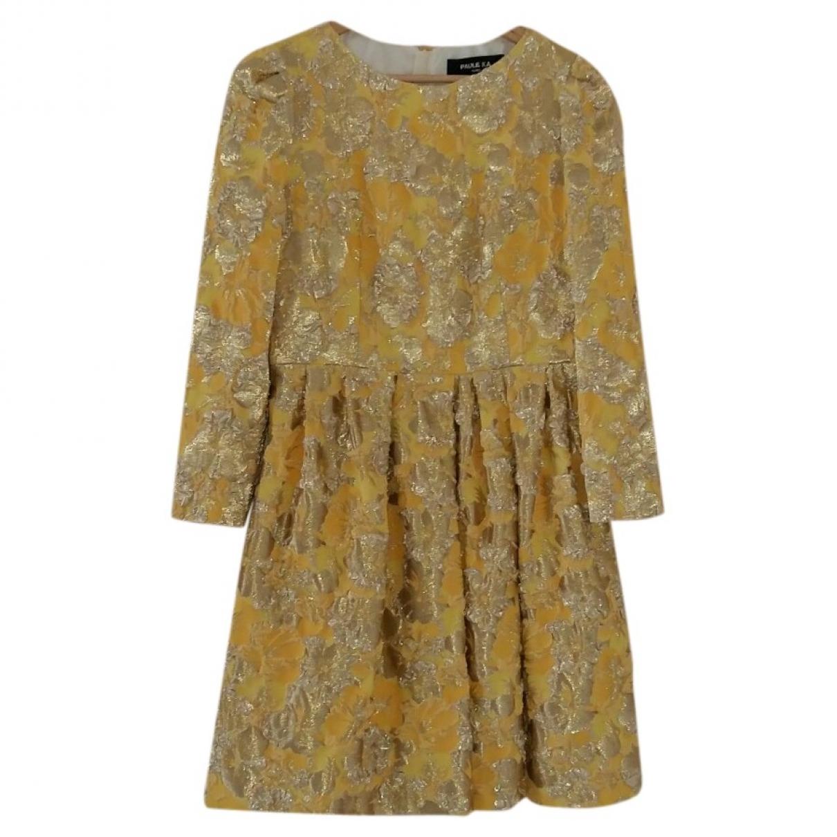 Paule Ka \N Kleid in  Gold Polyester