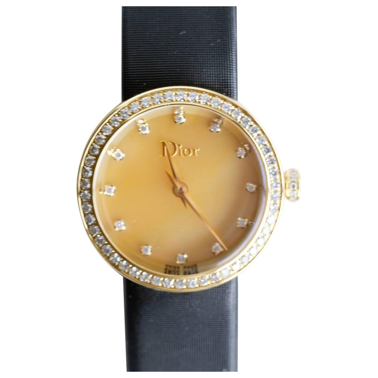 Dior D Uhr in  Gold Gelbgold