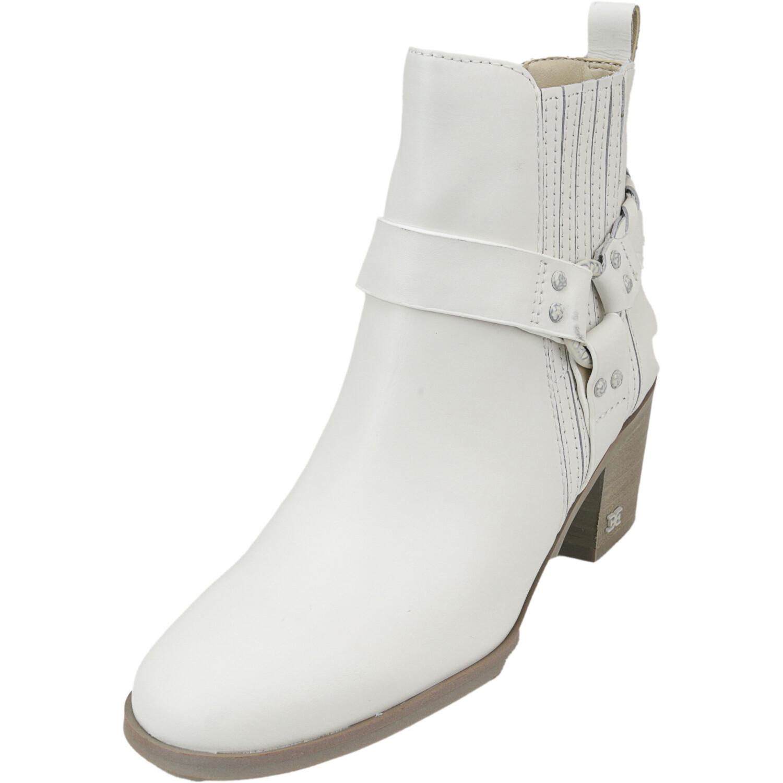 Sam Edelman Women's Dalma Leather White Ankle-High Boot - 5M