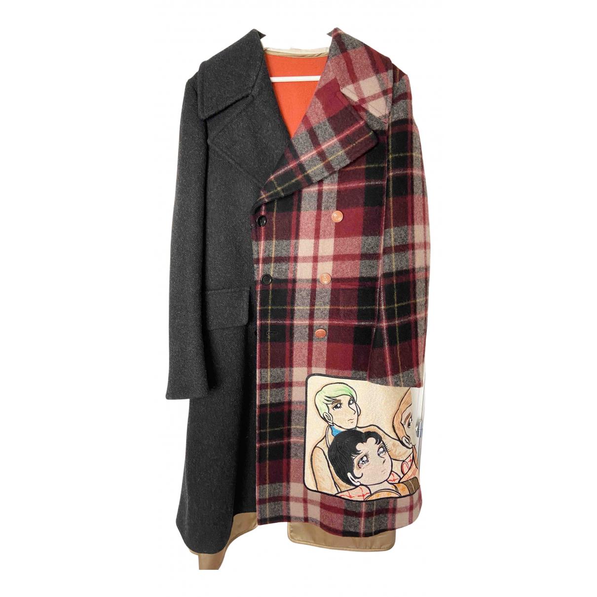 Gucci \N Grey Wool coat for Women 44 IT