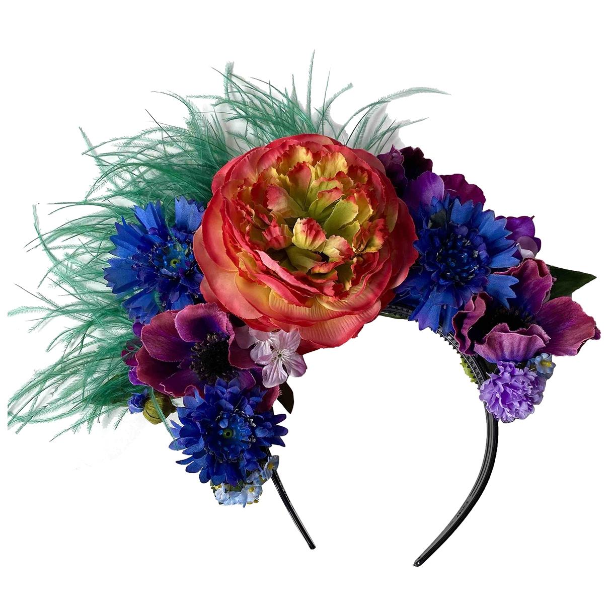 Non Signe / Unsigned Motifs Floraux Haarschmuck in  Bunt Kunststoff