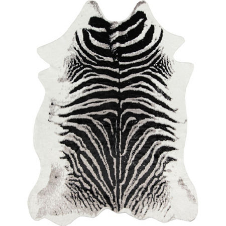 Erin Gates By Momeni Faux Zebra Hide Rug, One Size , Black