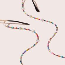 Kunstperlen Decor Perlen Brille Kette