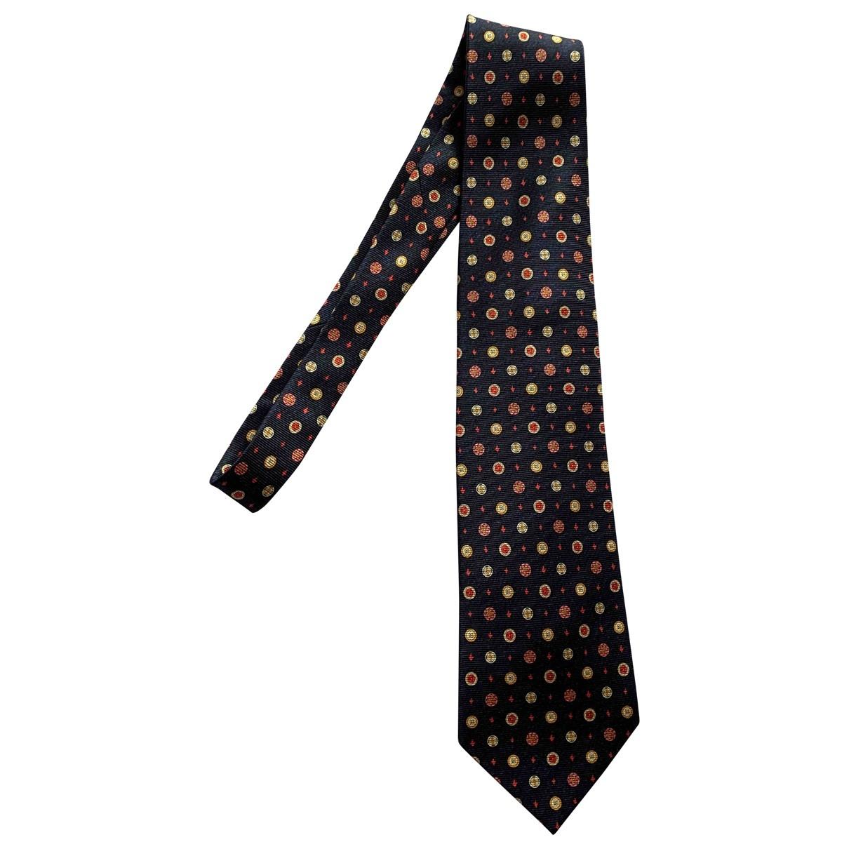 Bvlgari - Cravates   pour homme en soie - marine