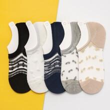 5 Paare Socken mit Netzstoff