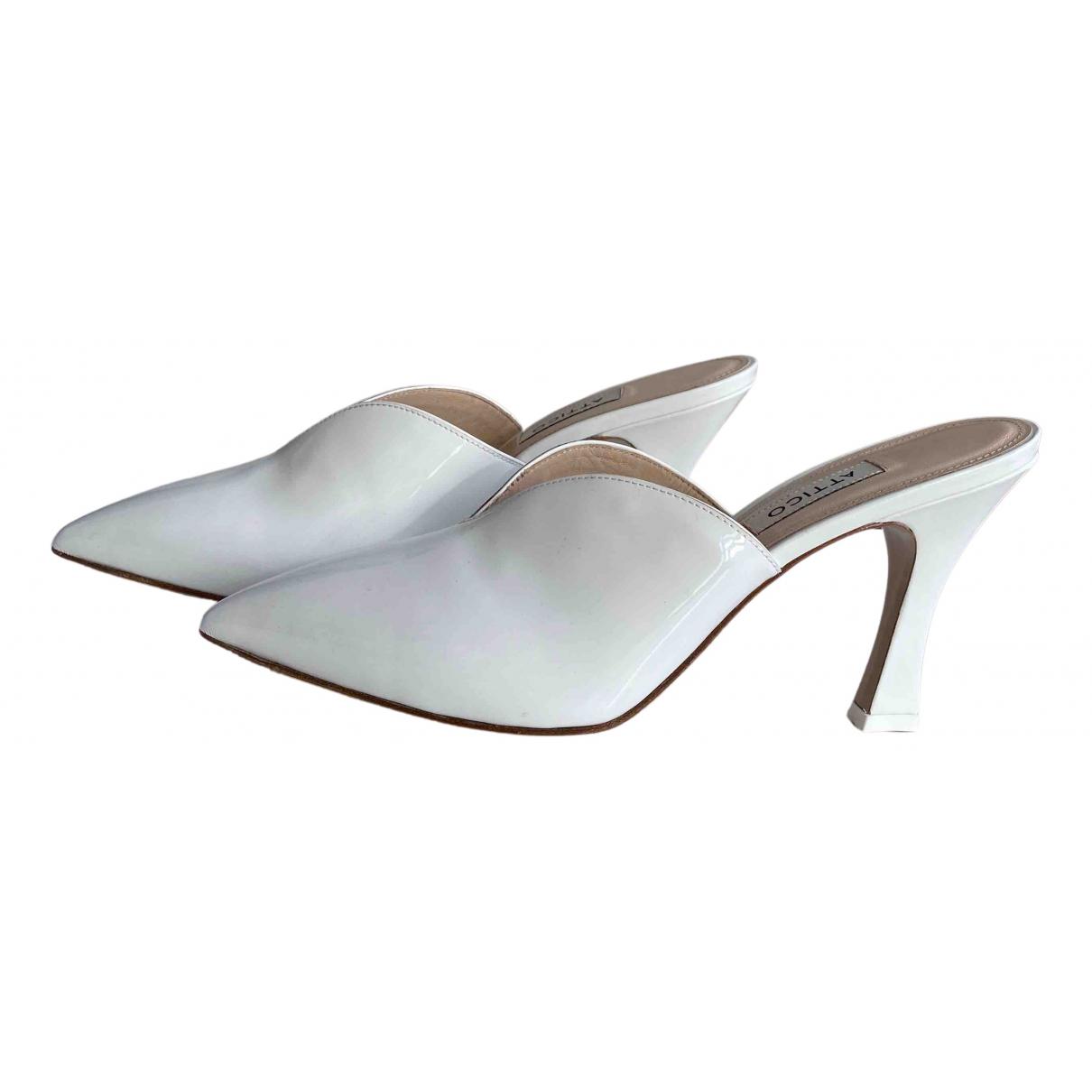 Attico N White Leather Mules & Clogs for Women 39 EU