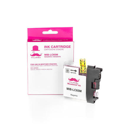 Compatible Brother MFC-6890DW Magenta Ink Cartridge by Moustache, High Yield