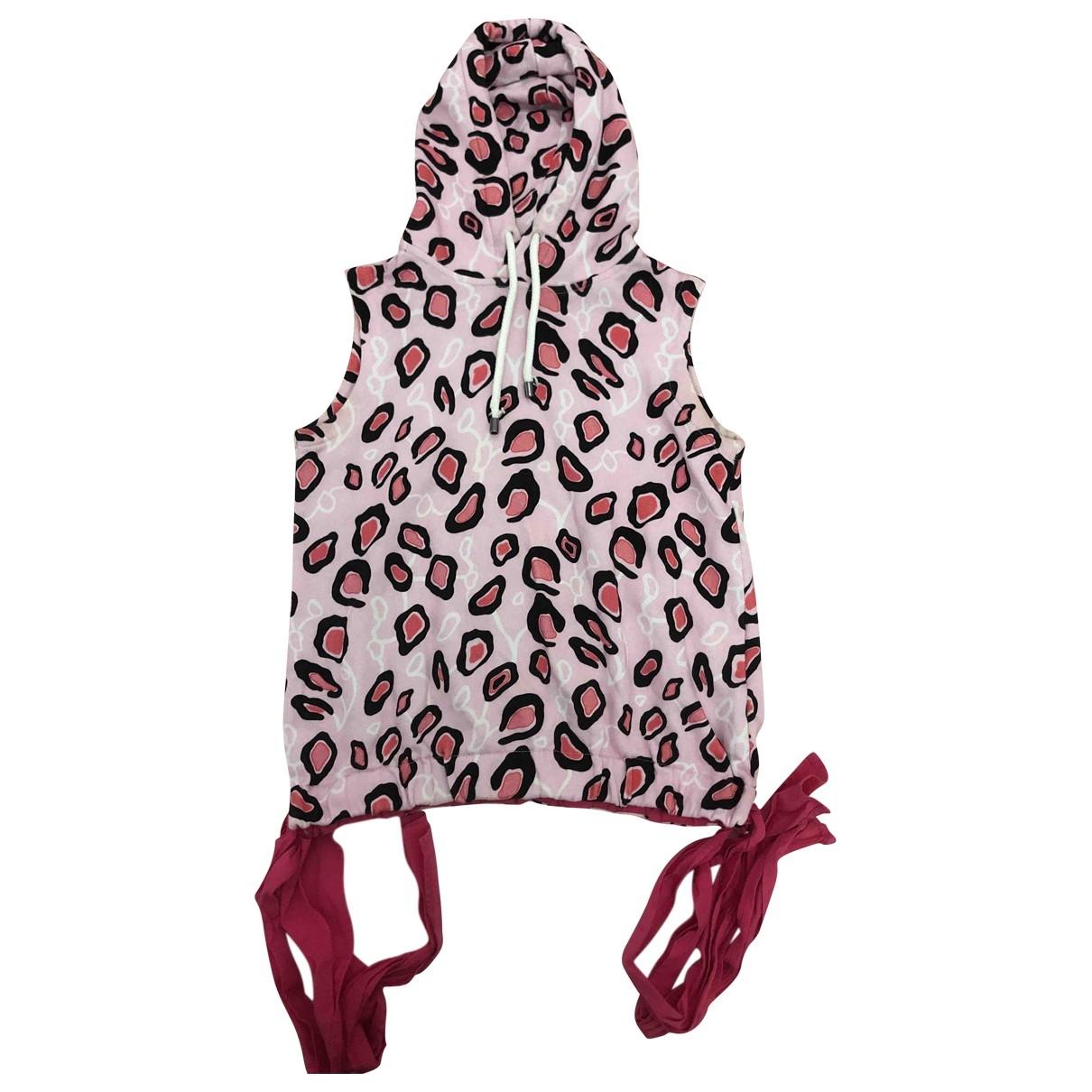 Msgm - Robe    pour enfant en coton - rose