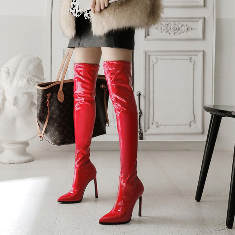 Ericdress Stiletto Heel Pointed Toe Slip-On Boots