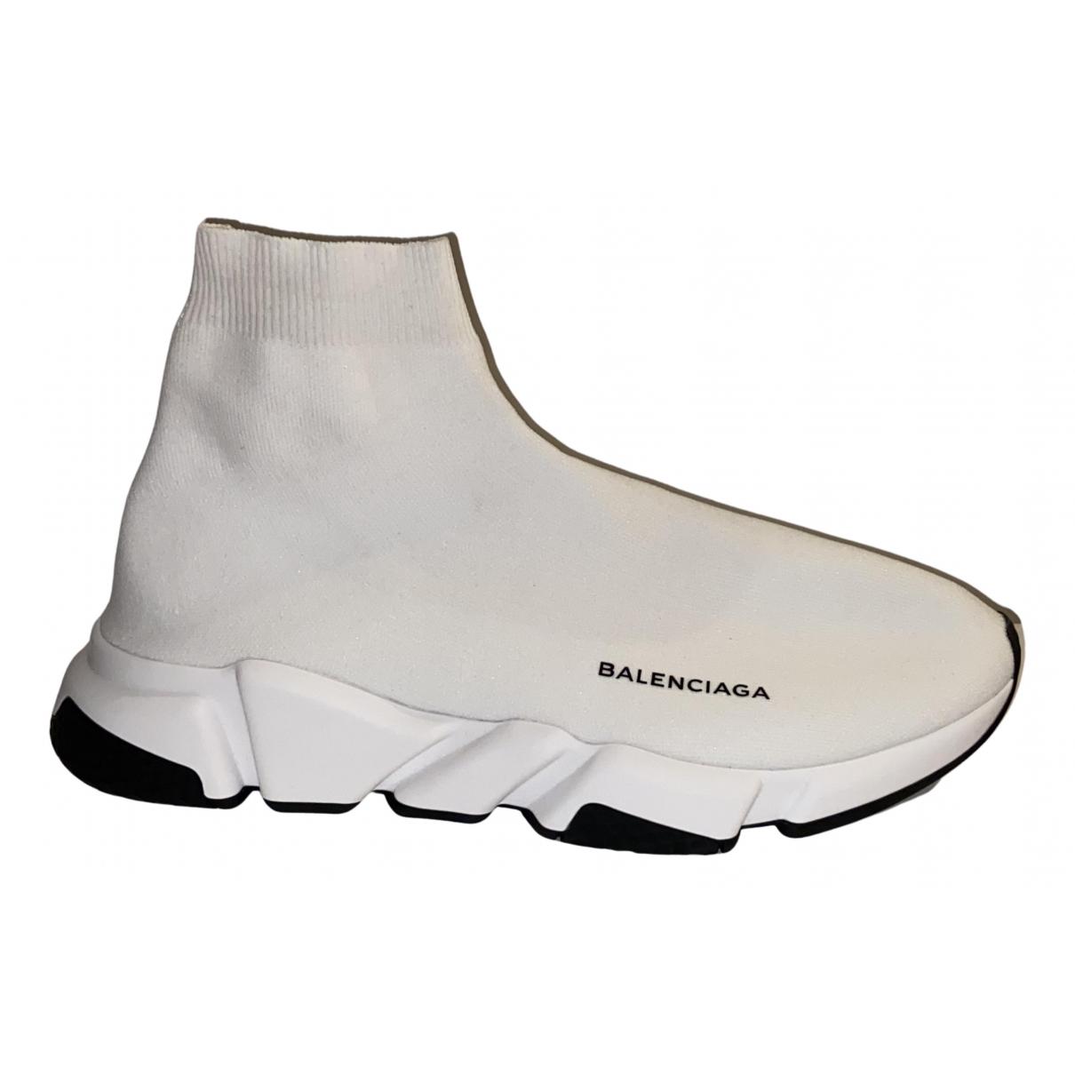 Balenciaga - Baskets Speed pour homme en toile - blanc