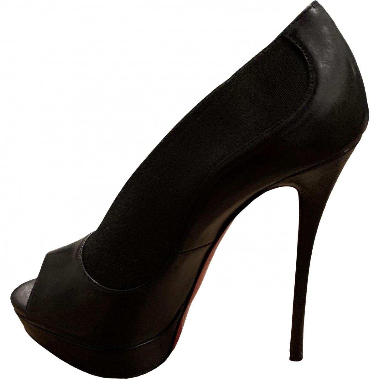Christian Louboutin \N Black Leather Ankle boots for Women 39 EU