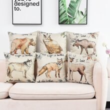 1pc Animal Print Cushion Cover Without Filler