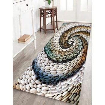 Spiral Stone Board Pattern Water Absorption Area Rug