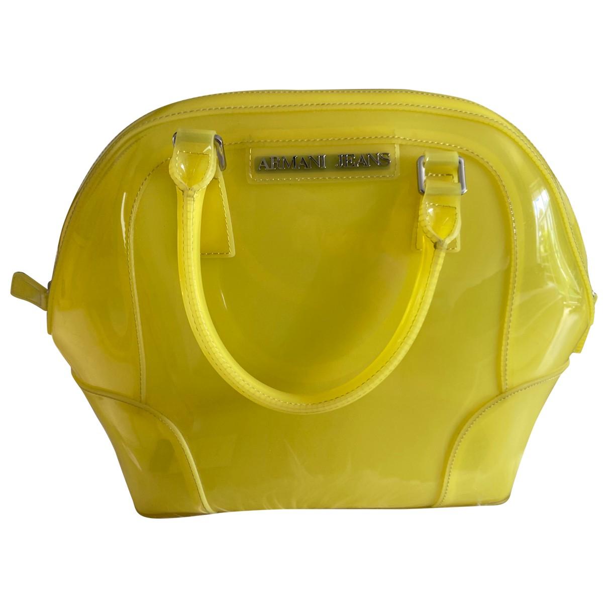 Armani Jeans \N Handtasche in  Gelb Kunststoff