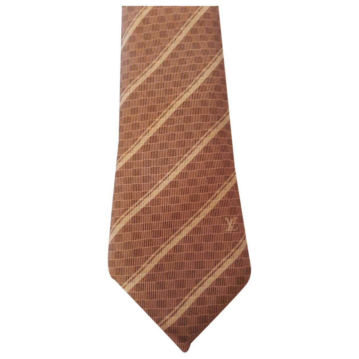 Louis Vuitton \N Krawatten in  Rosa Seide
