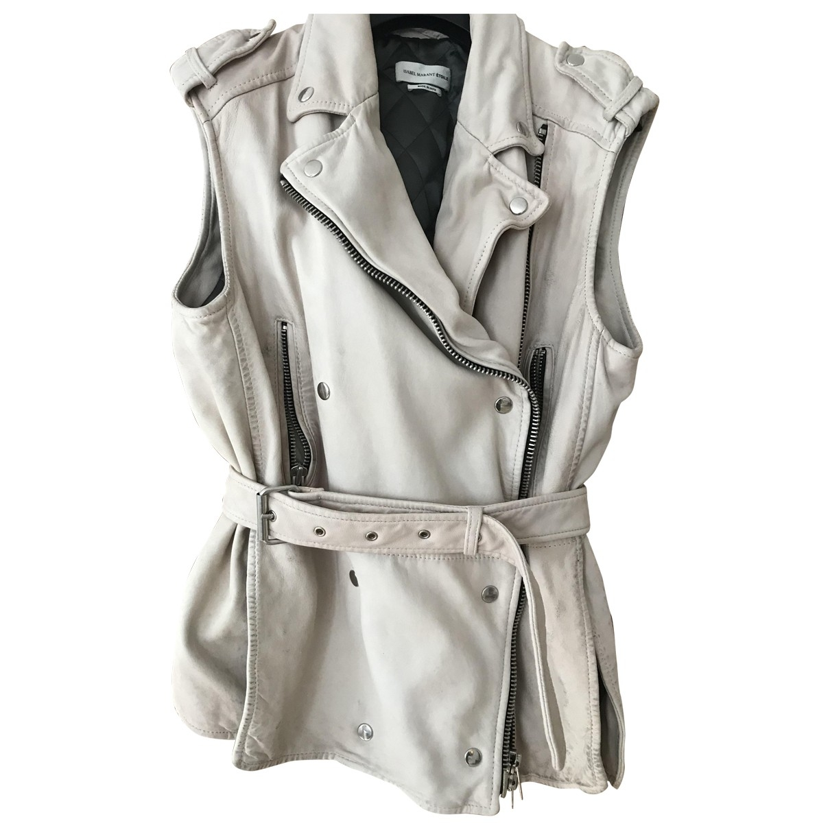 Isabel Marant Etoile \N Beige Leather jacket for Women 40 FR