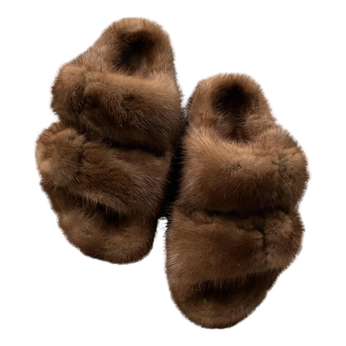 Birkenstock - Sandales   pour femme en vison - marron