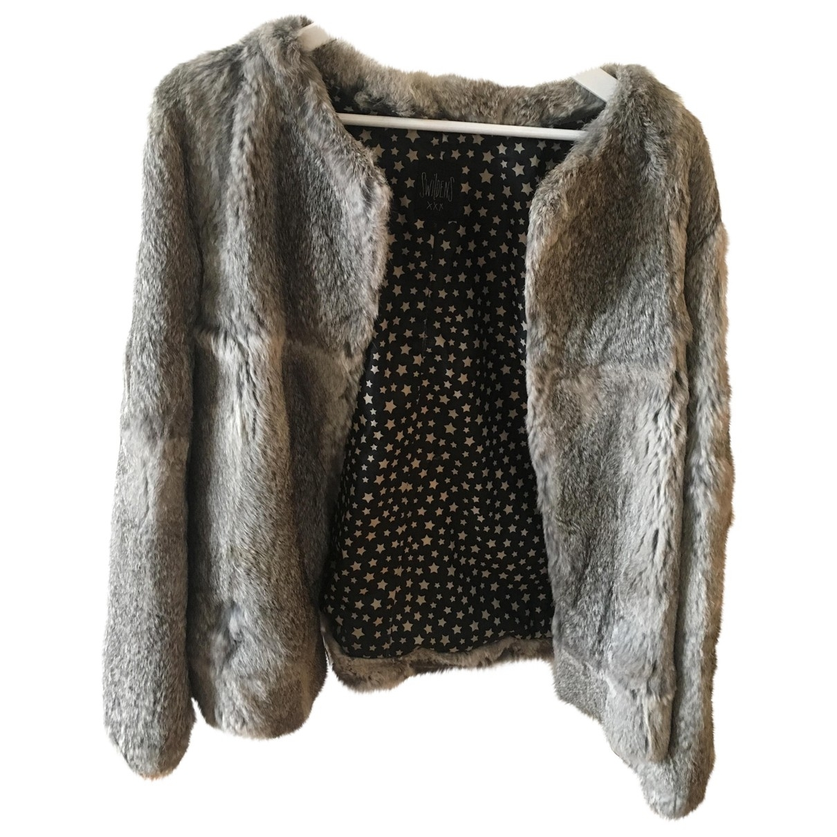 Swildens \N Grey Rabbit coat for Women 36 FR