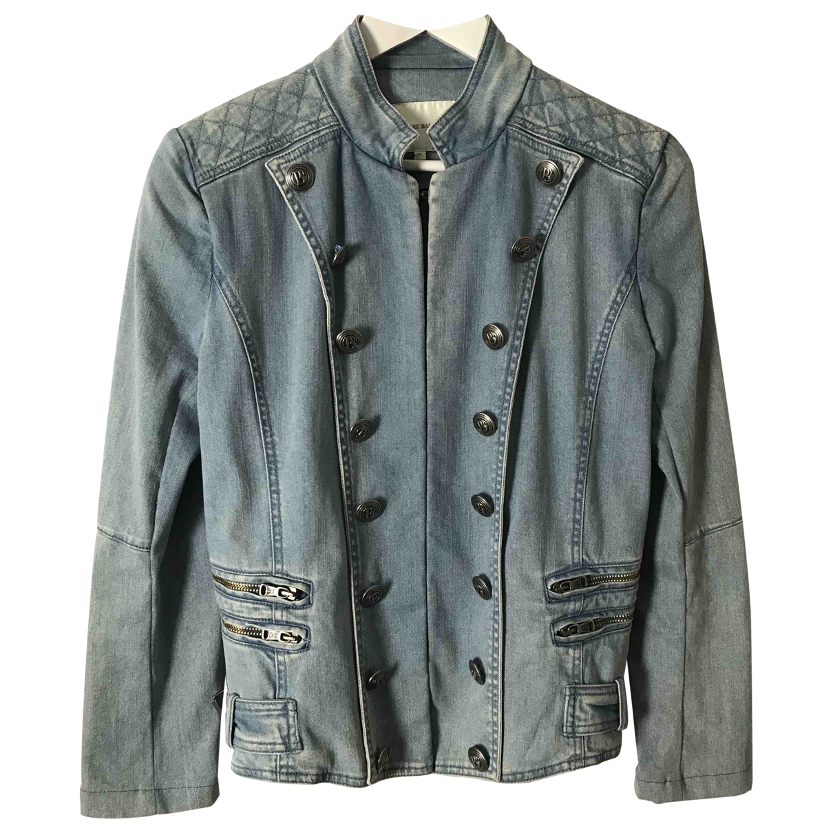 Balmain \N Jacke in  Blau Denim - Jeans