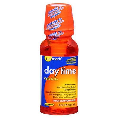 Sunmark Day Time Cold Flu Liquid Multi-Symptom Relief 8 oz by Sunmark