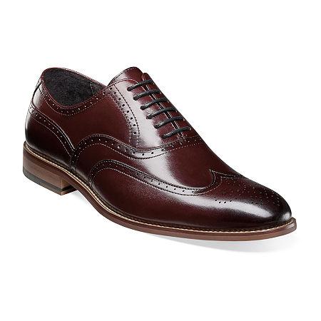 Stacy Adams Mens Dunbar Oxford Shoes, 10 1/2 Medium, Red