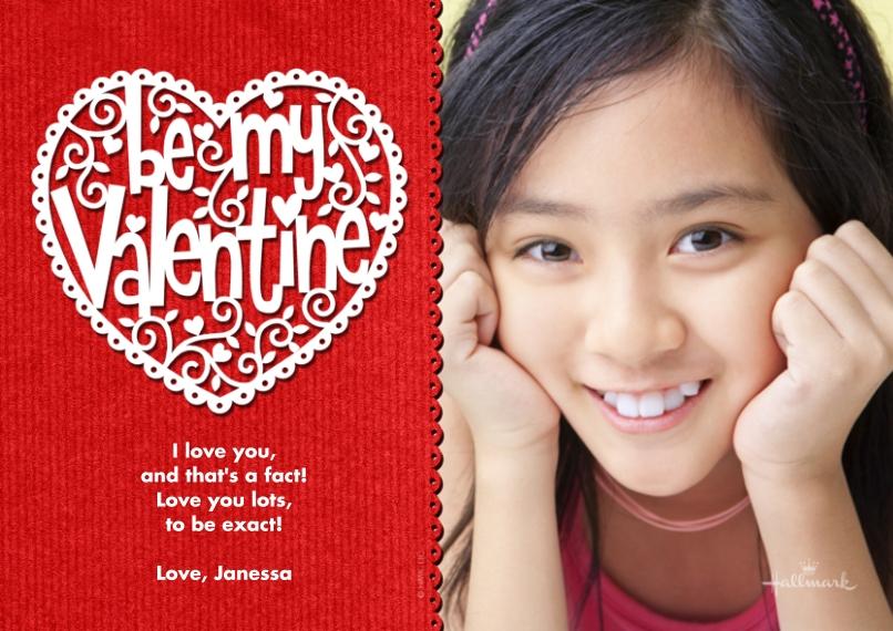 Valentine's Day Cards 5x7 Cards, Premium Cardstock 120lb, Card & Stationery -Laser Valentine