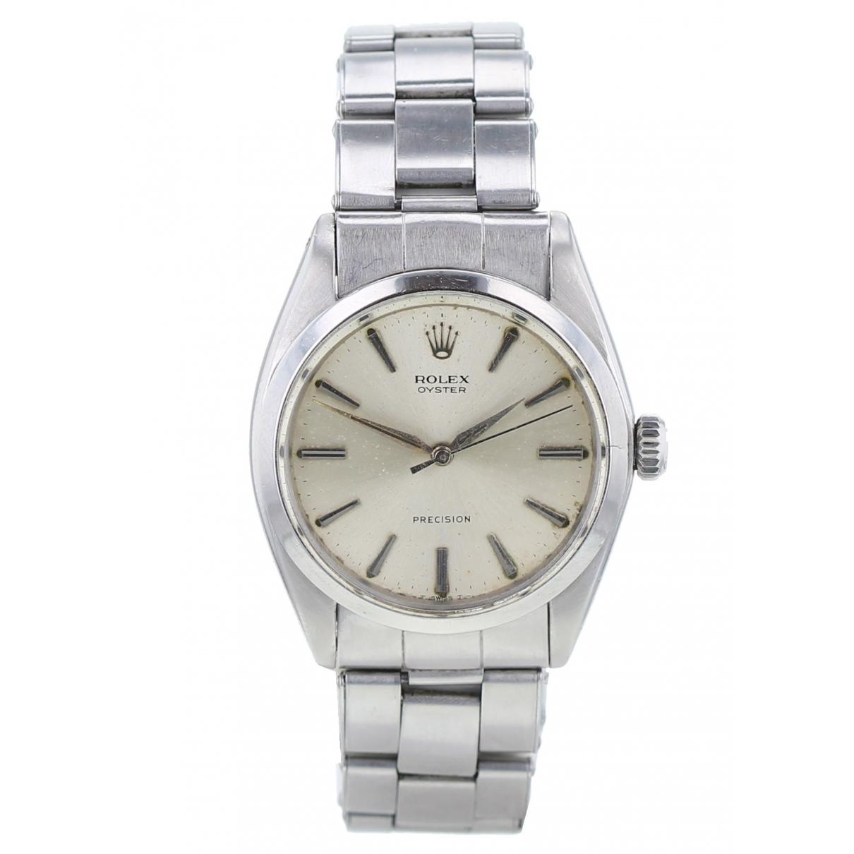 Rolex \N Khaki Silver watch for Men \N