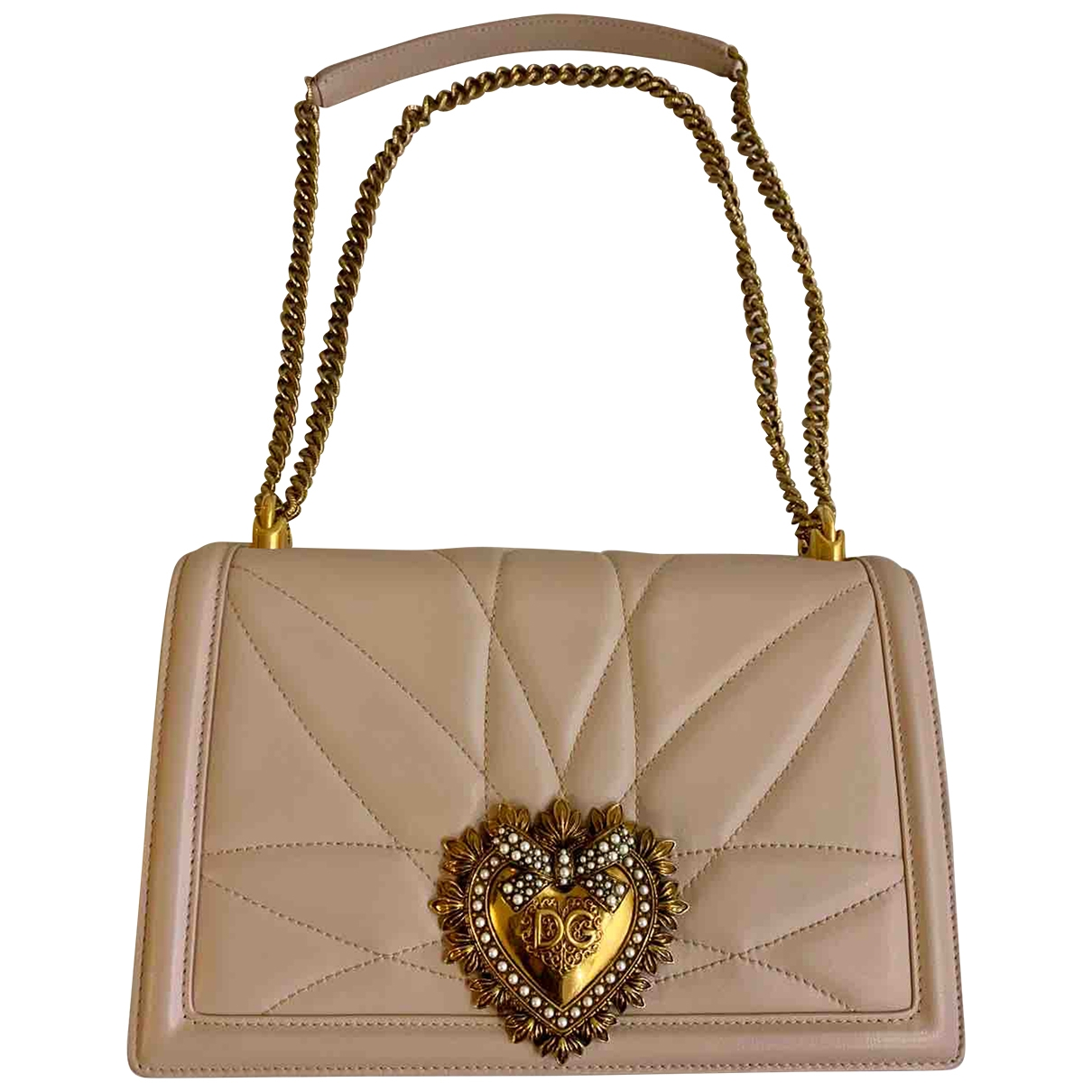 Dolce & Gabbana Devotion Pink Leather handbag for Women \N