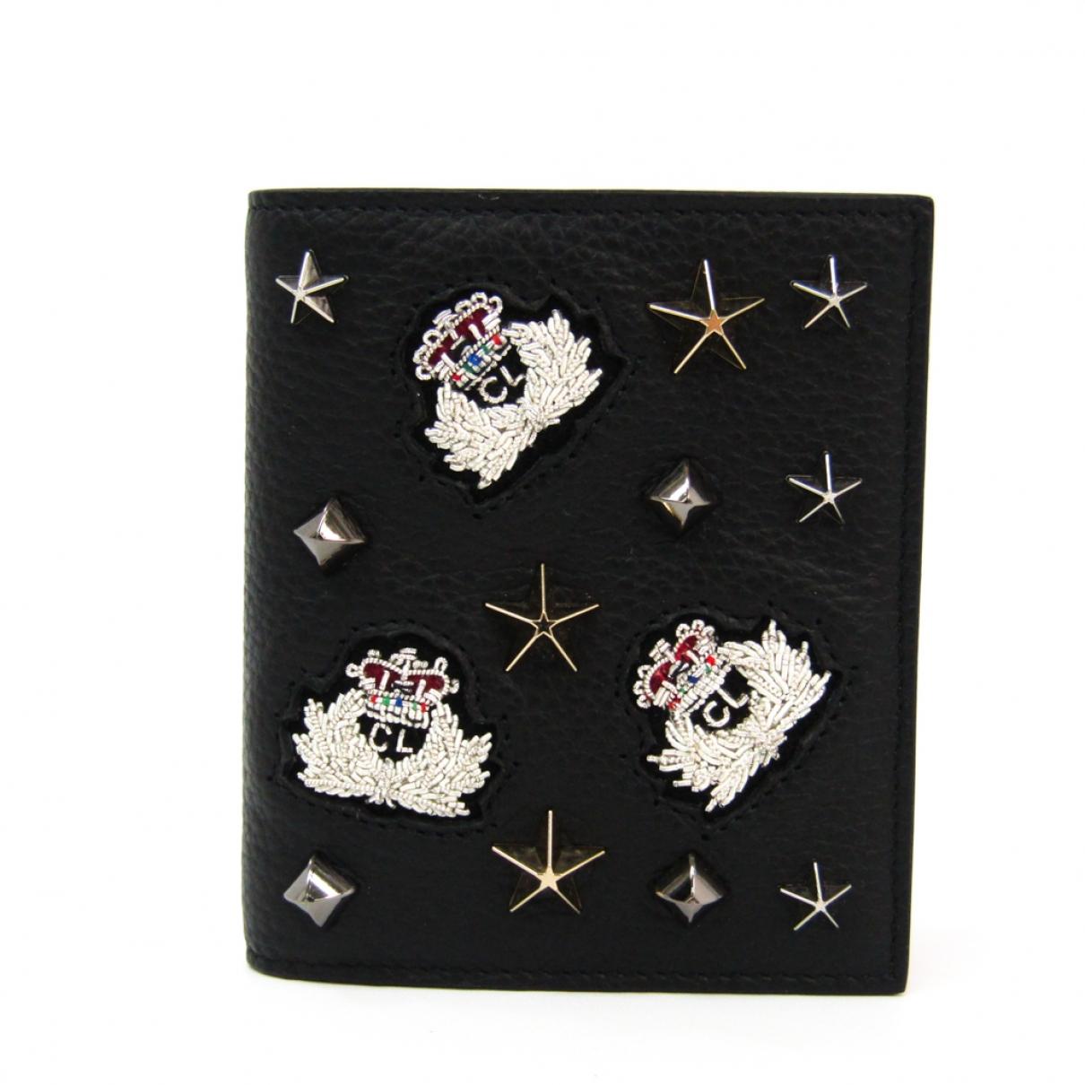 Christian Louboutin \N Black Leather wallet for Women \N