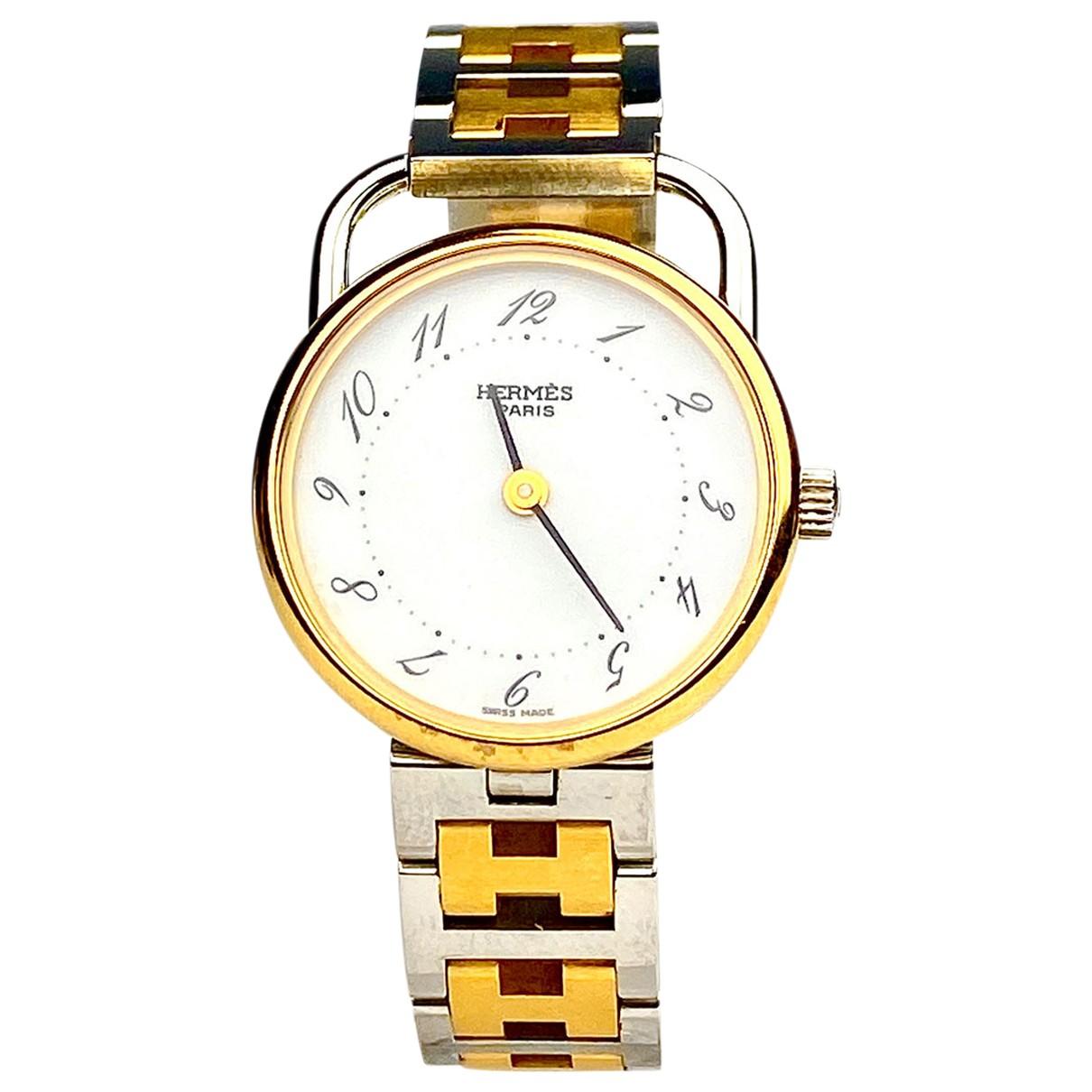 Hermes Arceau Uhr in  Gold Gold und Stahl