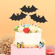 3pcs Halloween Bat Cake Topper