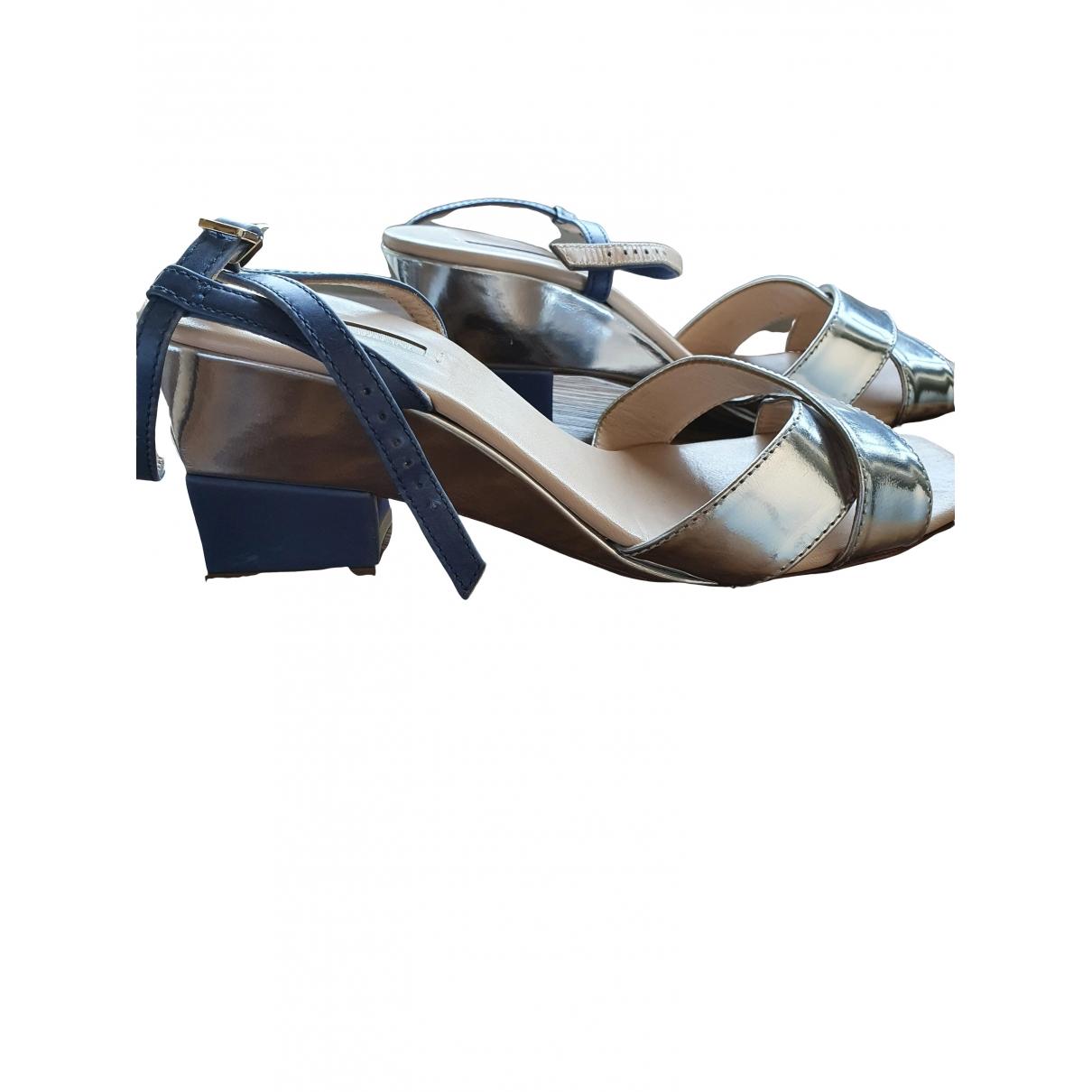 Sandalias de Cuero Giorgio Armani