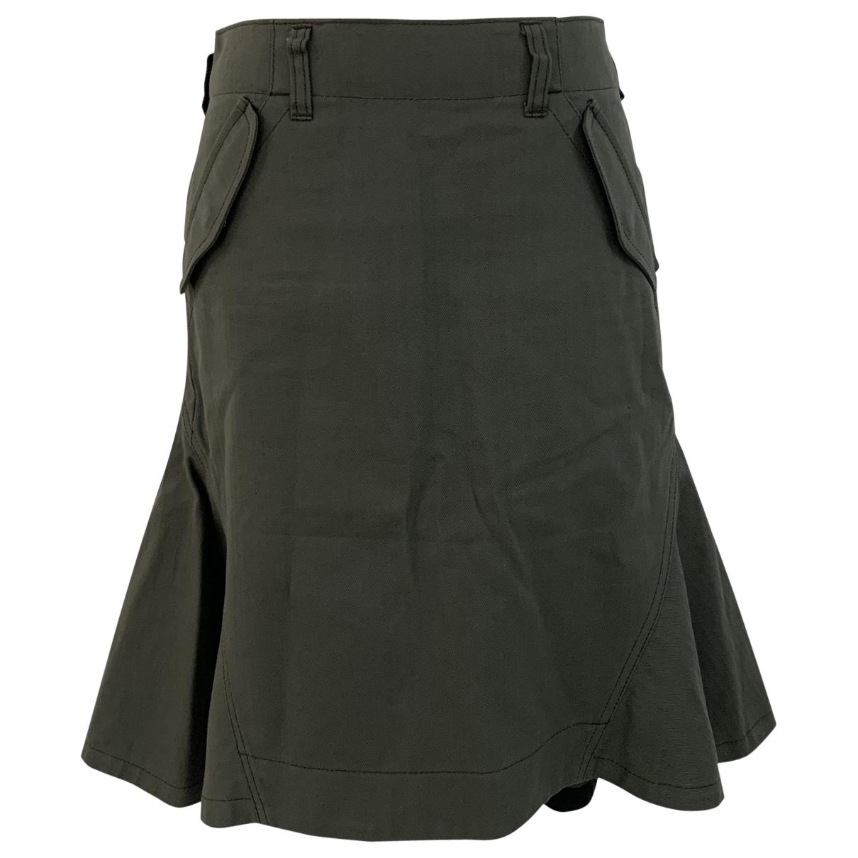 Sacai Luck - Jupe   pour femme en coton - kaki