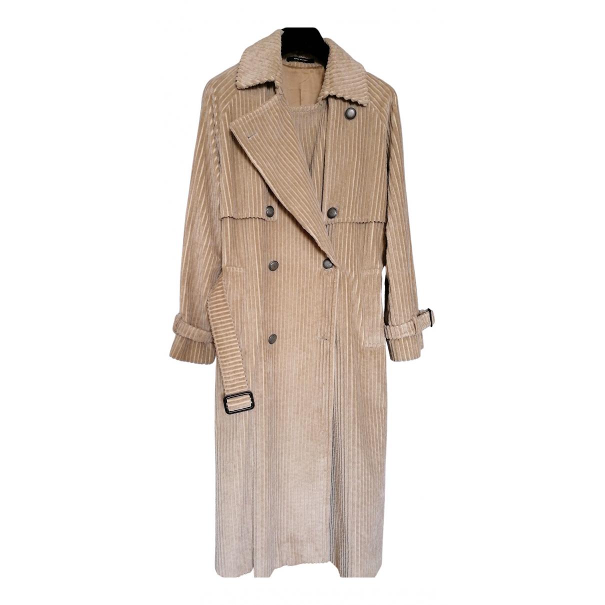 Tagliatore N Beige Cotton coat for Women 44 IT