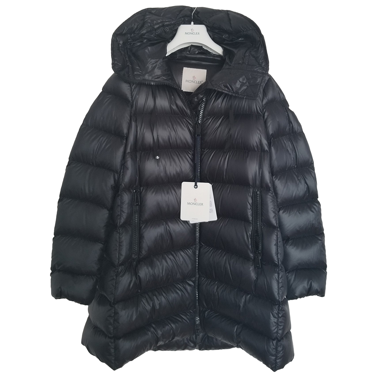 Moncler N Black coat for Women 46 IT